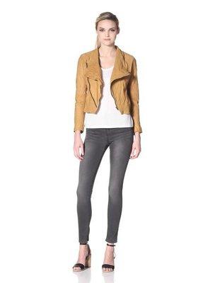Hare + Hart Schiller Asymmetric Leather Jacket  水洗皮真皮皮衣,比D-mop皮衣輕 ,原價美金$830