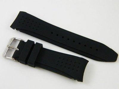 錶帶屋 24mm 代用 HAMILTON 漢米頓 MIDO 豪雅 TAG SEIKO BALL ORIS 弧形圓弧彎頭矽膠錶帶 現貨