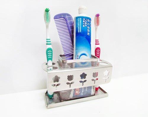 ☆成志金屬☆不銹鋼SA-6A 板式花漾牙刷架可壁掛或擺放在流理台面,典雅精緻優美華麗。