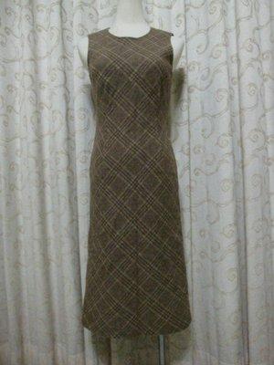 專櫃品牌 non-stop格紋毛料背心洋裝~C170