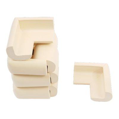 【TRENY直營】無雙酚A防撞角套-米白8入 兒童防護 無甲醛 內附雙面膠 安裝容易 安全 HD-H-47A