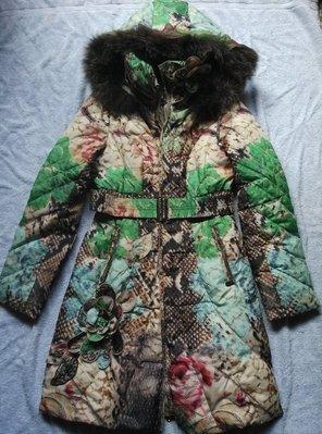 Pink Mary羽絨保暖外套大衣S號原價21400 狐狸毛 白鴨絨90%