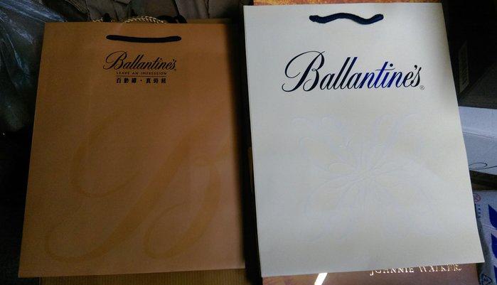 百靈罈Ballantines 格蘭利威 Martell馬爹利手提袋1個$10,15個$100