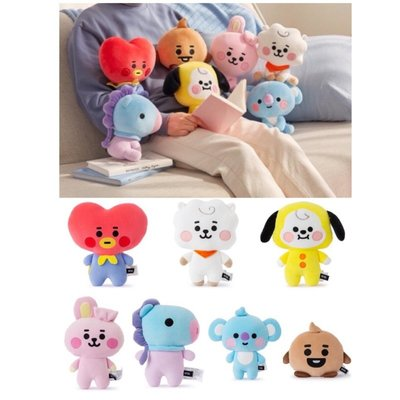 正版BT21 TATA RJ CHIMMY CHOOKY KOYA MANG  坐姿站姿迷你玩偶抱枕 娃娃(BABY款)