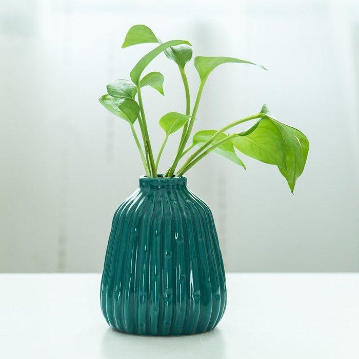 爆款北歐陶瓷小清新花瓶水培綠蘿瓷器迷你辦公桌客廳插干花裝飾品擺件#簡約#陶瓷#小清新