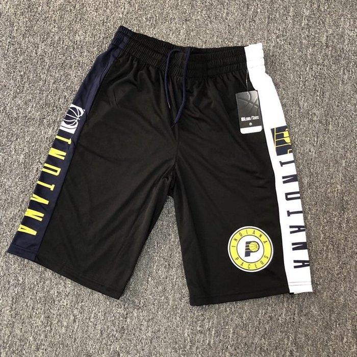 NBA籃球短褲 印第安那溜馬隊 miller george   口袋版 運動籃球褲 正版