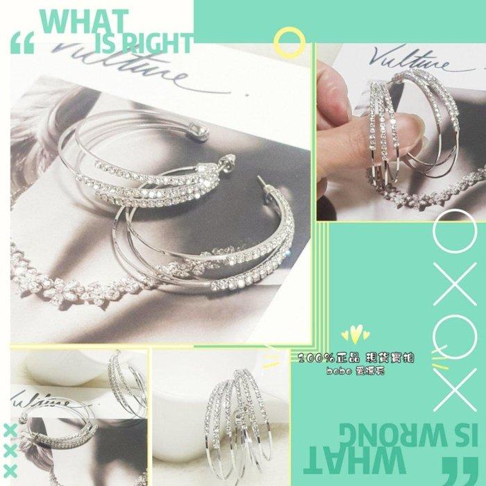 《現貨出清》韓國設計 歐美風 時尚 C圈純銀大耳環