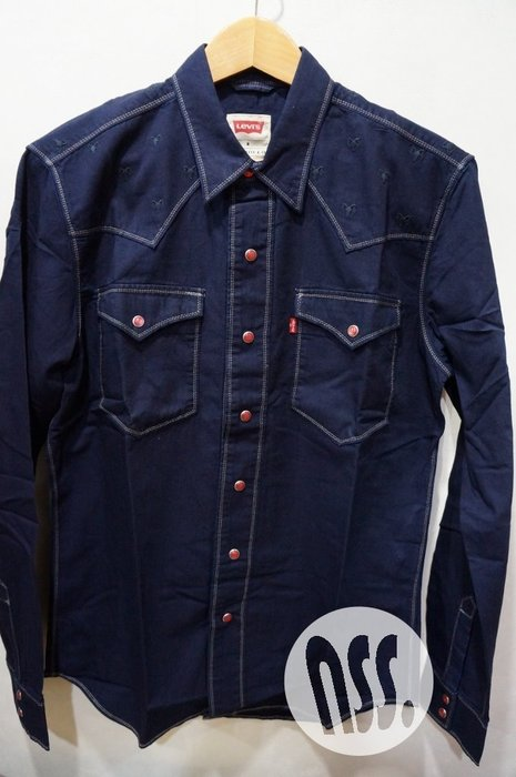 特價「NSS』LEVI'S LEVIS Double Stitch CNY Shirt 刺繡 牛仔襯衫 M
