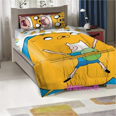 ☆ ╮美國Happy購╭☆ Adventure Time 探險活寶 老皮 阿寶 圖案 棉被+枕套 雙人組