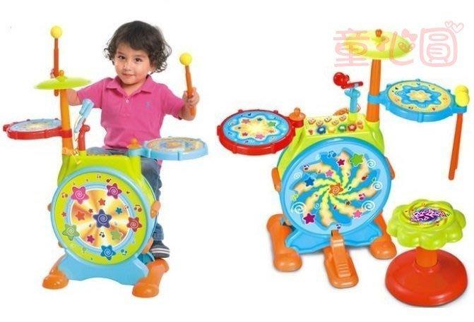 兒童動感聲光爵士鼓-附椅子//小小音樂家◎童心玩具1館◎