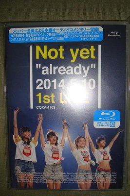 NOT YET already 2014.5.10 1st LIVE (Blu-ray) 初回限定盤 全新未拆 日版