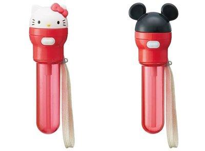 【東京速購】日本地區限定 阿卡將 Hello Kitty 凱蒂貓 米奇 耳朵造型 攜帶 保特瓶蓋 彈跳 吸管