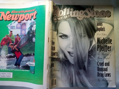 滾石雜誌1992年9月 蜜雪兒菲佛 封面 馬奇馬克Marky Mark Wahlberg 嗆紅辣椒 珍妮絲賈普林 88頁