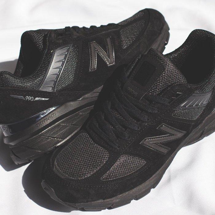 【豬豬老闆】NEW BALANCE 990 V5 黑 復古 麂皮 網布 休閒 運動 美製 男鞋 M990BB5