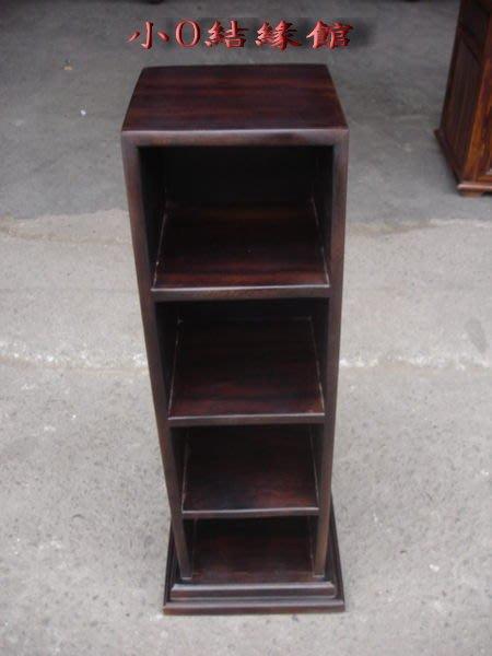 小o結緣館仿古傢俱.........鑲貝四格CD櫃'收納櫃25x25x69 (雞翅木)