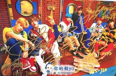 BTS 防彈少年團 七位成員 親筆簽名宣傳照C版 精美包裝#3615