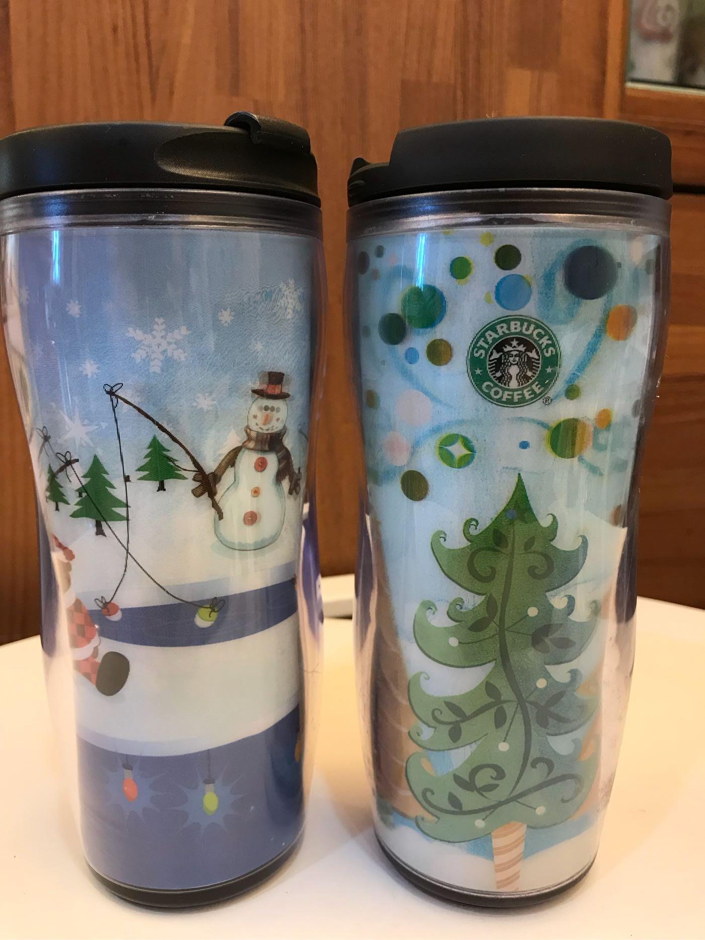 星巴克 Starbucks 台灣 隨行杯 12oz 雪人 聖誕樹 聖誕限量 3D 共2款 不分售 全新未使用