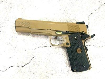 Funny GUN WE MEU 無刻印 戰術魚骨 全金屬瓦斯槍 沙色 -WEE008T2