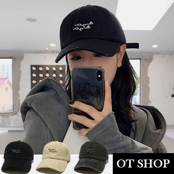 [現貨有影片] 彎檐帽子 破壞老帽 棒球帽 鴨舌帽 文青 簡約韓風 基本帽型 素色 C2066