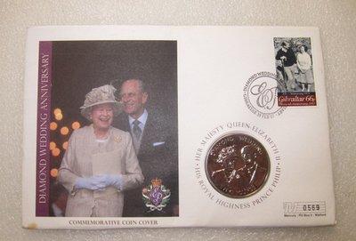生活品質館 女王母亲钻石婚期纪念币 泽西岛2007年5磅 邮币封 收藏 纪念 送礼