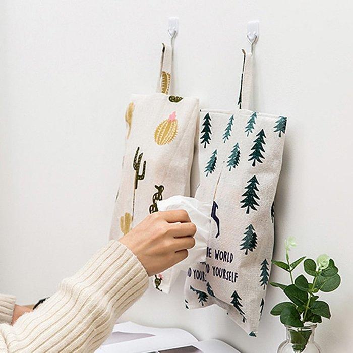PS樂【CJ507】新款創意掛式棉麻紙巾抽