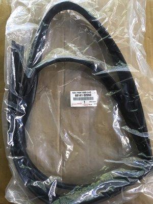 懶寶奸尼 TOYOTA 豐田 正廠 ALTIS 年份01-07 玻璃泥槽 車窗泥槽 車門玻璃泥槽