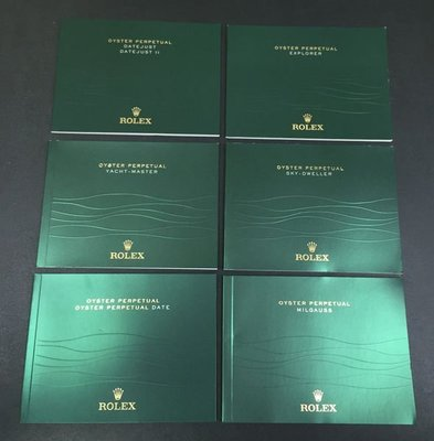 Rolex booklet 全新橫身小冊子 100% New