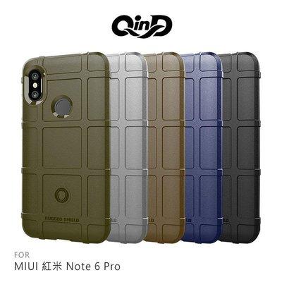 *phone寶*QinD MIUI 紅米 Note6 Pro 戰術護盾保護套 防摔殼 TPU套 保護殼