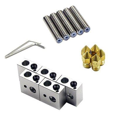 #新品 #現貨 3d印表機配件 MK8加熱鋁塊套件 1.75mm喉管 0.4mm噴嘴帶扳手套裝新品推薦~AOD2961