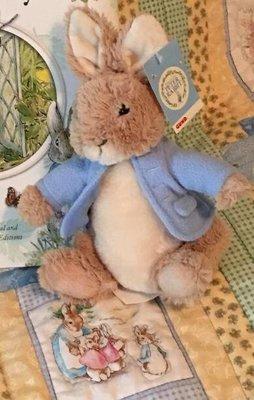 歐洲進口   16cm高 正品 可愛Peter Rabbi彼得兔子兔兔物娃娃擺件玩偶裝飾品擺設品送禮禮物 7015c