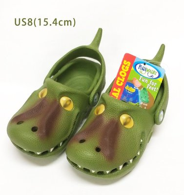 輕微瑕疵含運出清Polliwalks童鞋-霸王龍(橄欖綠)US8
