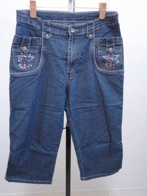 99元起標~SHY GER~彈性七分牛仔褲~SIZE:XL