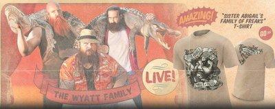 [美國瘋潮]正版 WWE Wyatt Family Family of Freaks Tee 詭異家族款衣服L號特價
