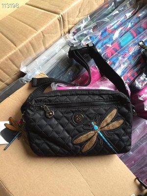 凱莉代購 Kipling 黑底蜻蜓 k15187 胸包 斜背包 腰包 現貨