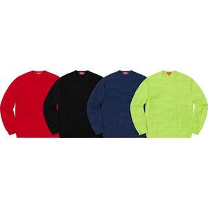 【紐約范特西】現貨/預購 SUPREME FW19 Raised Logo Sweater 毛衣