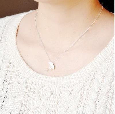 ☜男神閣☞戀與手鍊周邊銀杏葉珍珠s925純銀禮物定情信物項鍊