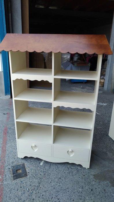 戀戀小木屋 屋頂造型展示櫃  書櫃  可愛款