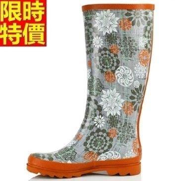 長筒雨靴子 雨具-夏季復古浪漫印花女雨鞋子66ak32[獨家進口][巴黎精品]