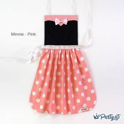 **party.at** 迪士尼 米妮 / 粉紅色款 兒童圍裙 2-8Y聖誕節服裝 萬聖節 冰雪奇緣 白雪公主 小紅帽