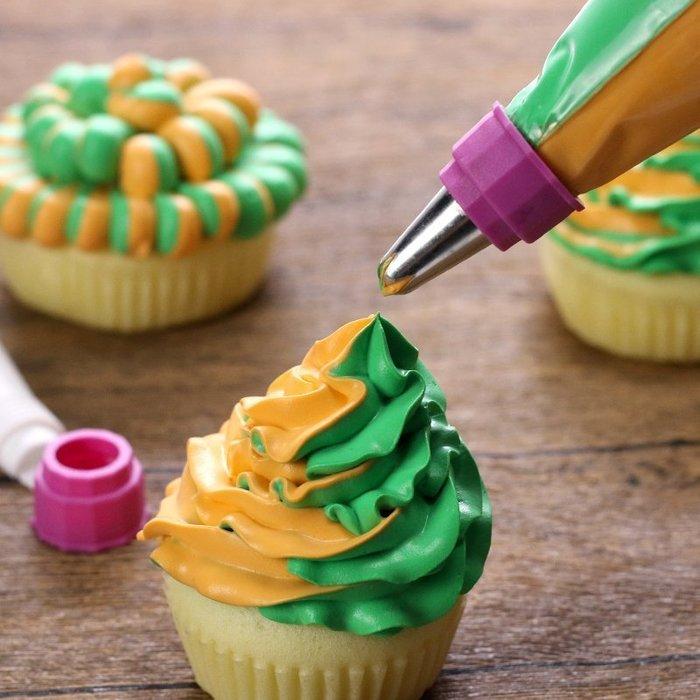 Amy烘焙網:雙色奶油霜擠花袋 可重複使用 雙色鮮奶油擠花袋