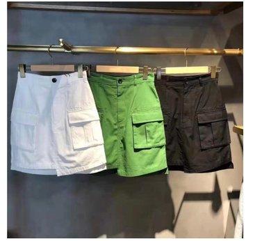 山東:MOUSSY 夏季新款 口袋設計基礎不規則短裙 SLY 210526