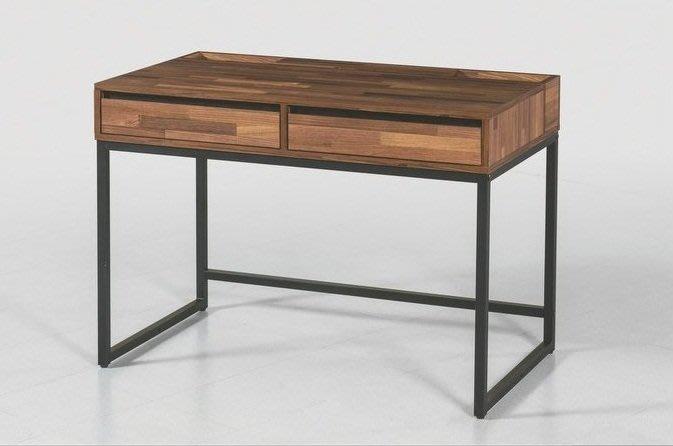 桌子美式工業風木辦公桌寫字桌簡約現代台式loft長桌電腦桌書桌