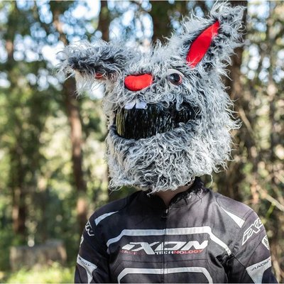 【丹】A_Moto Loot Helmet Cover 安全帽套 芝麻街 兔子款