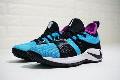 """老夫子 Nike PG2 耐克""""Blue Lagoon""""湖藍黑紫 經典 運動籃球鞋 AO2984-402 男"""