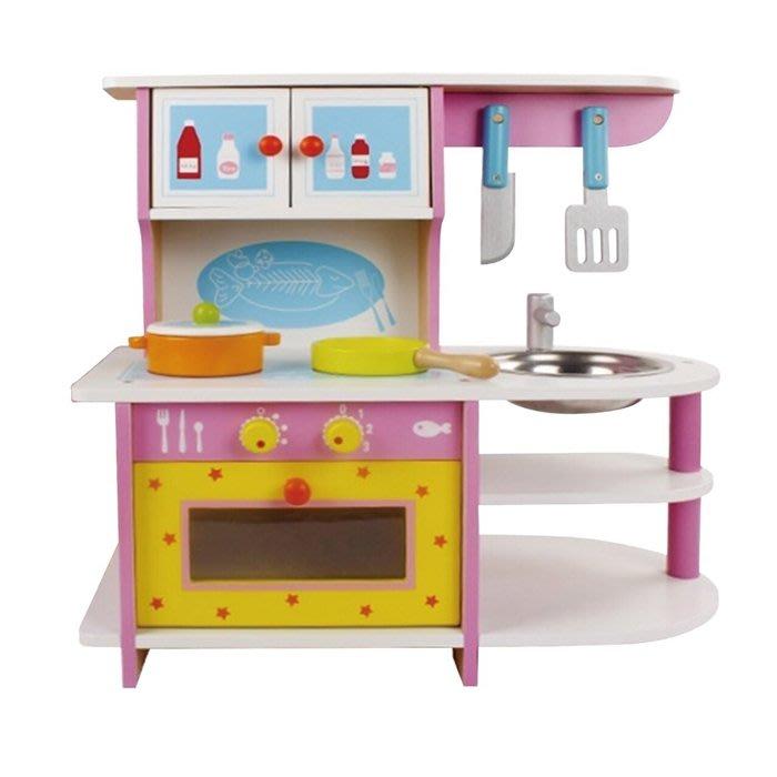 CHING-CHING親親-WOOD TOYS木製玩具組-粉紅廚房(MSN15024)