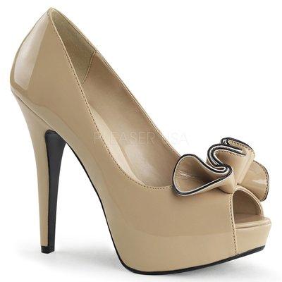 Shoes InStyle《五吋》美國品牌 PIN UP CONTURE 原廠正品漆皮厚底高跟魚口鞋 出清『駝色』