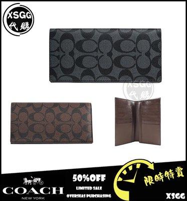 COACH 74599 男士長夾 錢包 零錢夾 對折卡夾