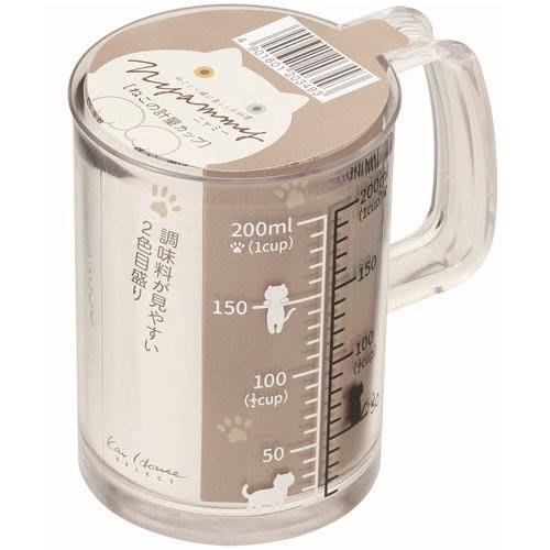 [霜兔小舖]日本代購  日本製Nyammy 貓咪圖案 計量量杯  200MLl KAI貝印 調味罐