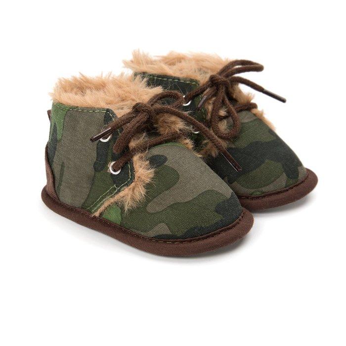 森林寶貝屋~迷彩休閒保暖鞋~學步鞋~幼兒鞋~寶寶鞋~嬰兒鞋~學走鞋~童鞋~綁帶設計~保暖舒適~彌月贈禮~特價135元