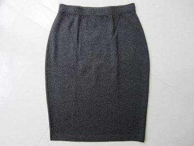 美國頂級名牌【ST. JOHN】SJ 女生 灰黑色 針織材質 短裙 及膝裙 2號 保證全新正品/真品 現貨